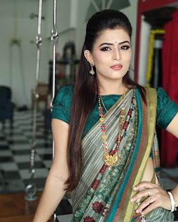 Tv artist veena ponnappa latest photos in saree Navel Queens