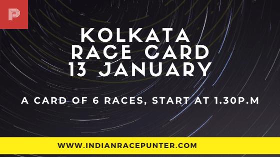 Kolkata Race Card 13 January