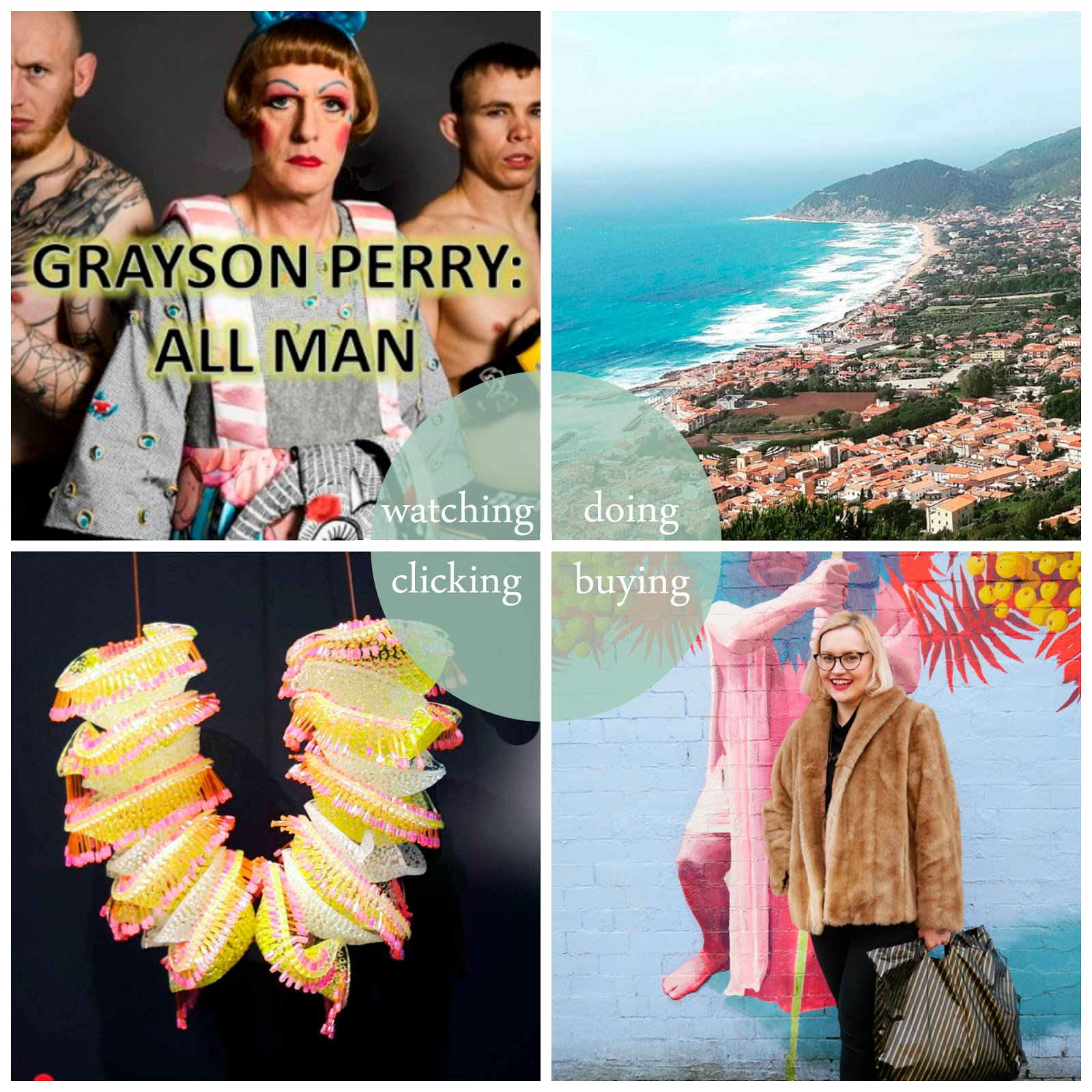 Round Up, best bits, May 2016, Dundee, dundee blogger, May favourites, Grayson Perry: All Man, tv reccomendation, Solerno, Italy, shopping, shopping ban, degree show, art school