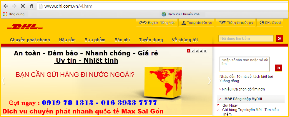 Check  online đơn hàng gửi đi quốc tế