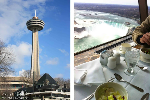 My Travel Background : 4 jours au Canada - Repas en haut de la Skylon Tower