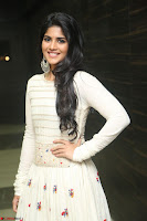 Megha Akash in beautiful White Anarkali Dress at Pre release function of Movie LIE ~ Celebrities Galleries 037.JPG
