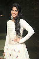Megha Akash in beautiful White Anarkali Dress at Pre release function of Movie LIE ~ Celebrities Galleries 037.JPG