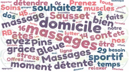 Massages du corps à domicile sur Sausset les Pins;