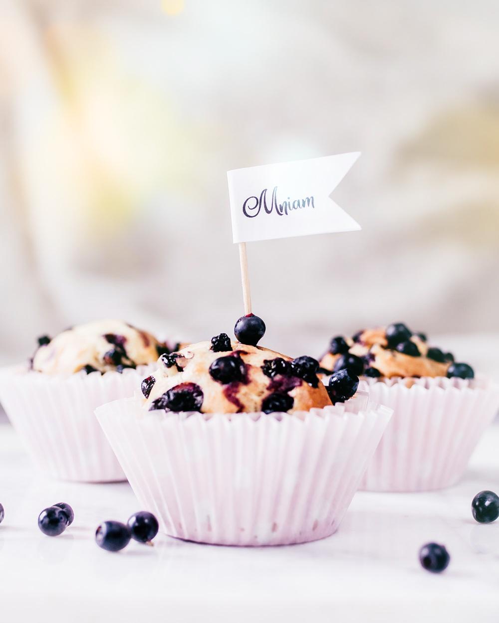 Jogurtowe muffinki z jagodami prosty i szybki przepis