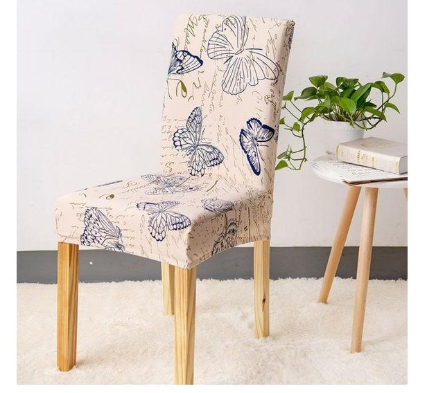 cute single cover sofa design ideas with calm cream butterfly flower natural decor