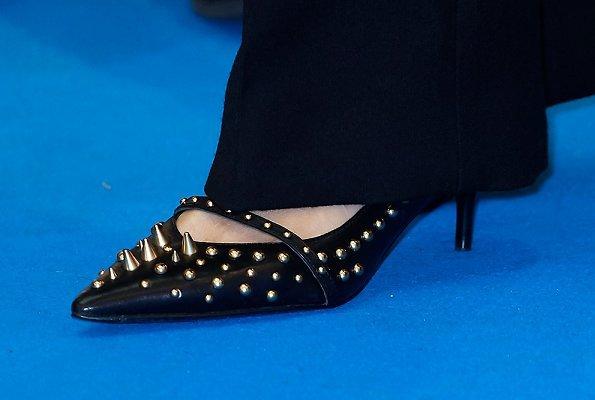 Queen Letizia wore Hugo Boss Jadabia Wool Cashmere Color Jacket, Queen Letizia wore Uterqüe Salon Shoes