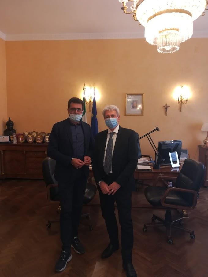 Il prefetto Vardè incontra il neo-Sindaco di Francavilla in Sinni Romano Cupparo