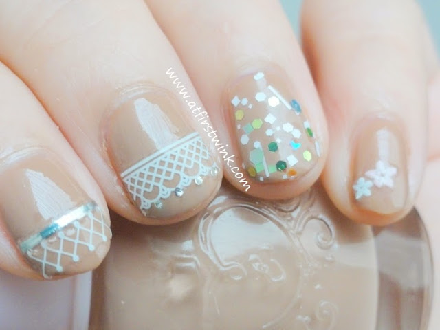 Etude House Jewel Nail Sticker sheet #03 flowers on pinky