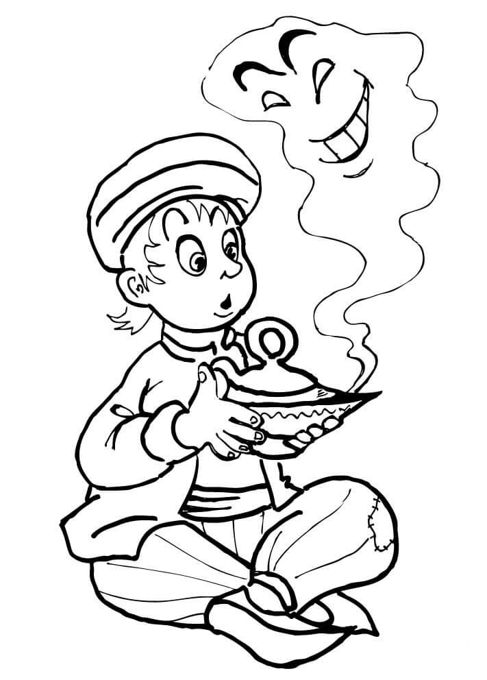 Alladdin, disegni Alladin, disegni da colorare, Jasmine, Genio