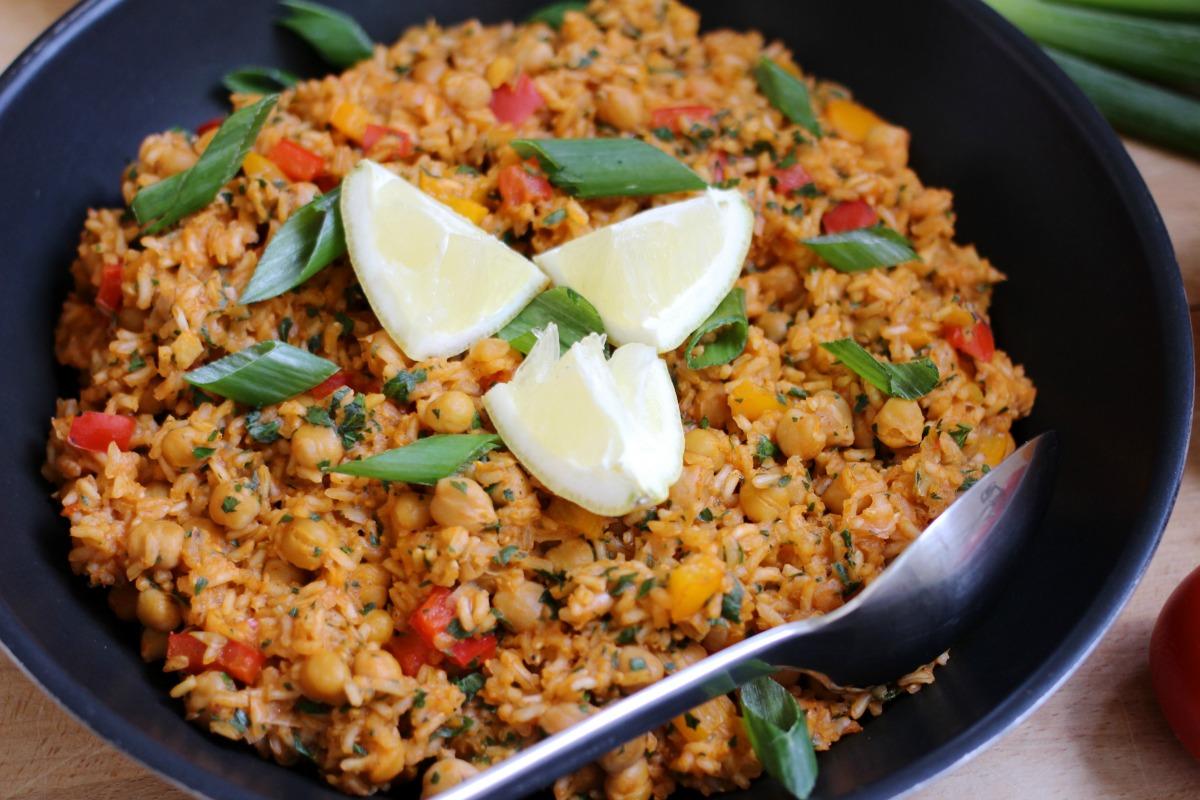 Vegane Gemüse Paella