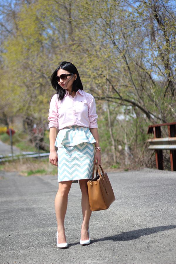 Stripes and Chevron (+ Ralph Lauren Oxford Shirts)