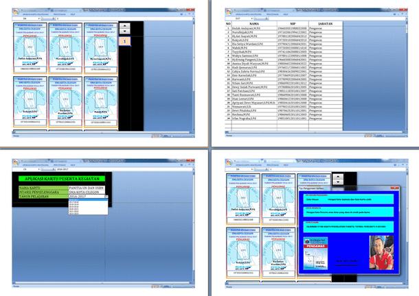 Aplikasi Cetak Kartu Pengawas dan Panitia UN dan USBN Format Microsoft Excel