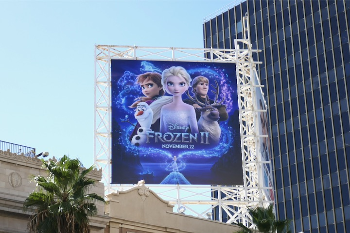Frozen II movie billboard