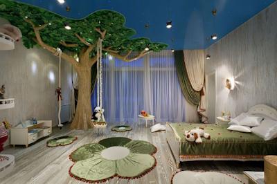 Desain kamar jungle untuk anak
