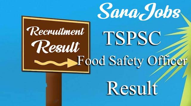 TSPSC Food Safety Officer Result