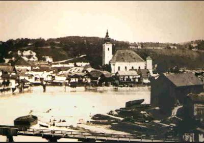 Foto antigua de la Parroquia de San Nicolás.