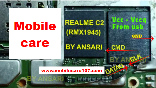 Realme C2 RMX1945 Isp eMMc Direct Pinout - Mobile Care