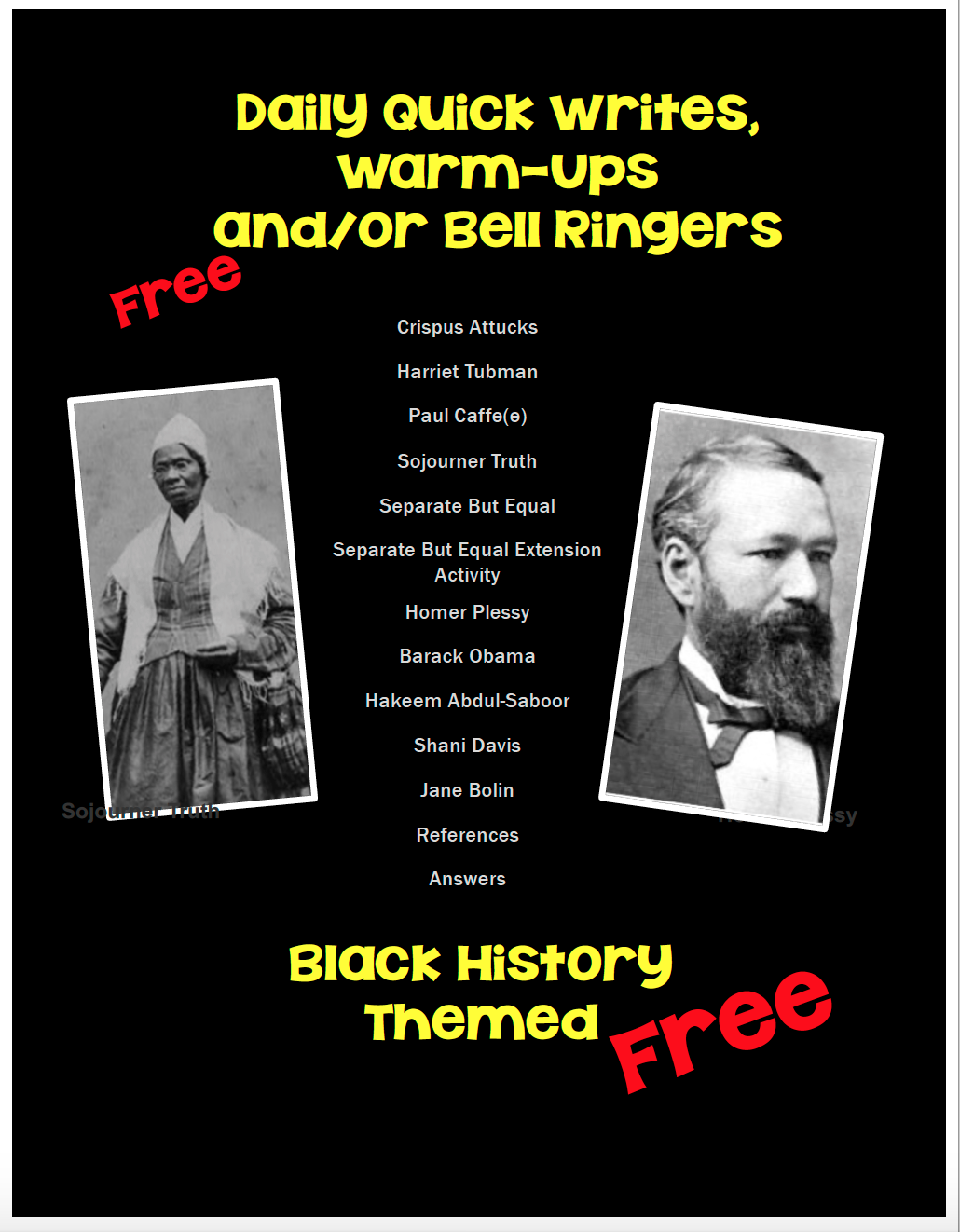 Instructional Strategies and Freebies!: Celebrate Black History Month [ 1322 x 1030 Pixel ]