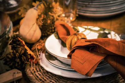 Figure: Which traditional utensil was not present at the thanksgiving meal?