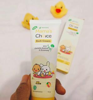 Kemasan mama's choice rash cream berbentuk tube