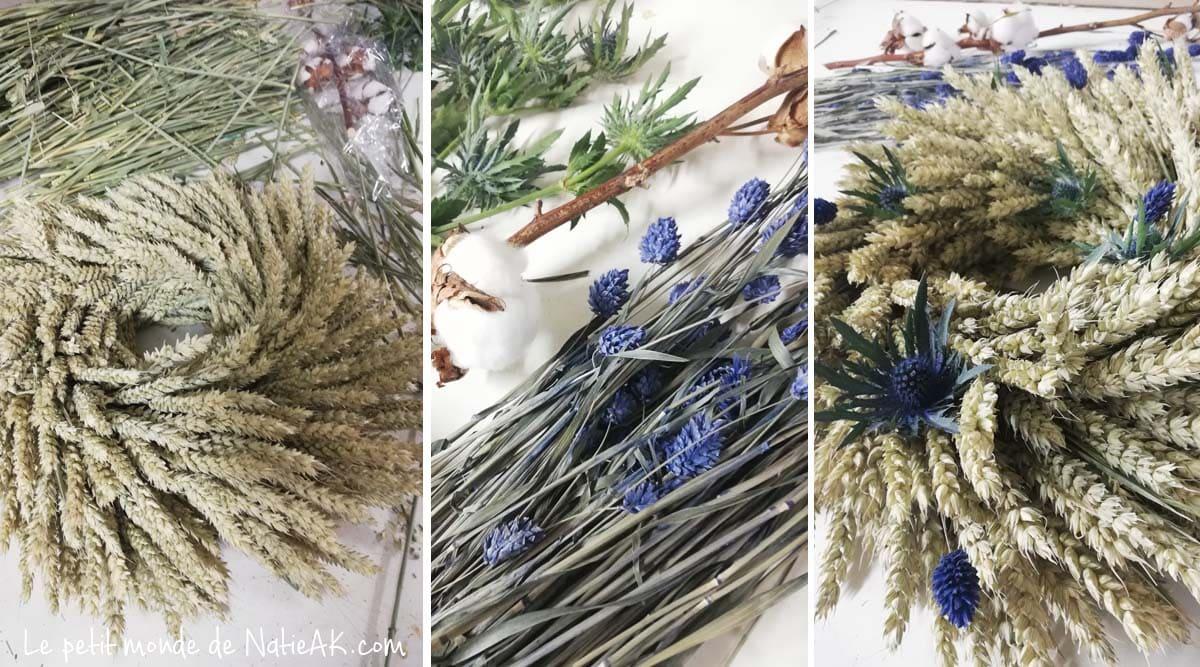 Couronne de Noël fleurs séchées