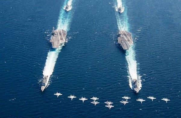 Tiongkok-Rusia Anggap Gerombolan Kapal Induk AS Kurang Bersahabat