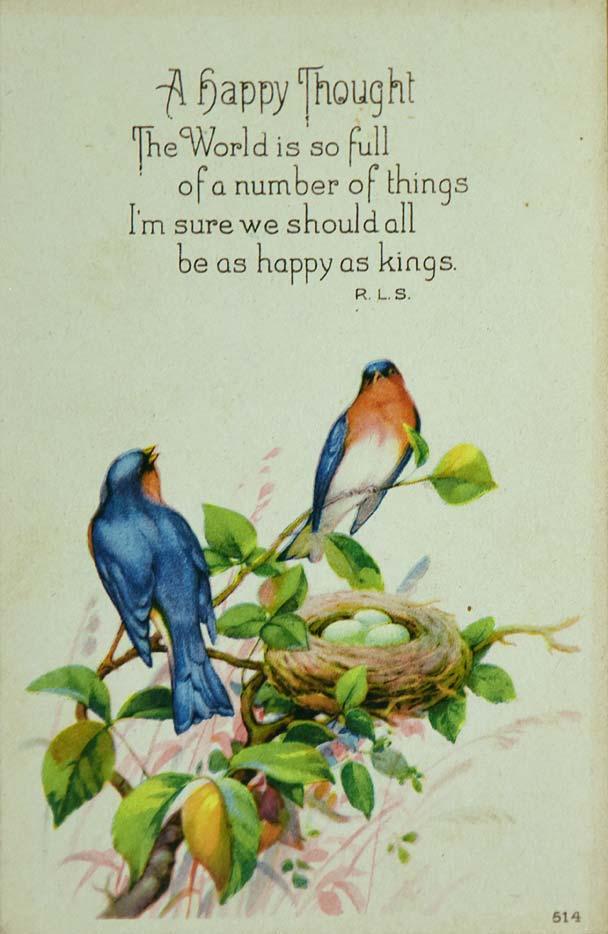 1920s Vintage bluebird postcard 514