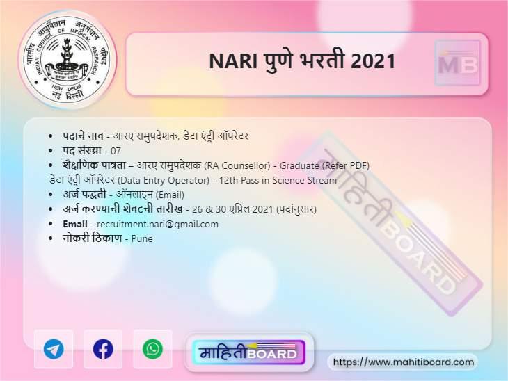NARI Pune Bharti 2021