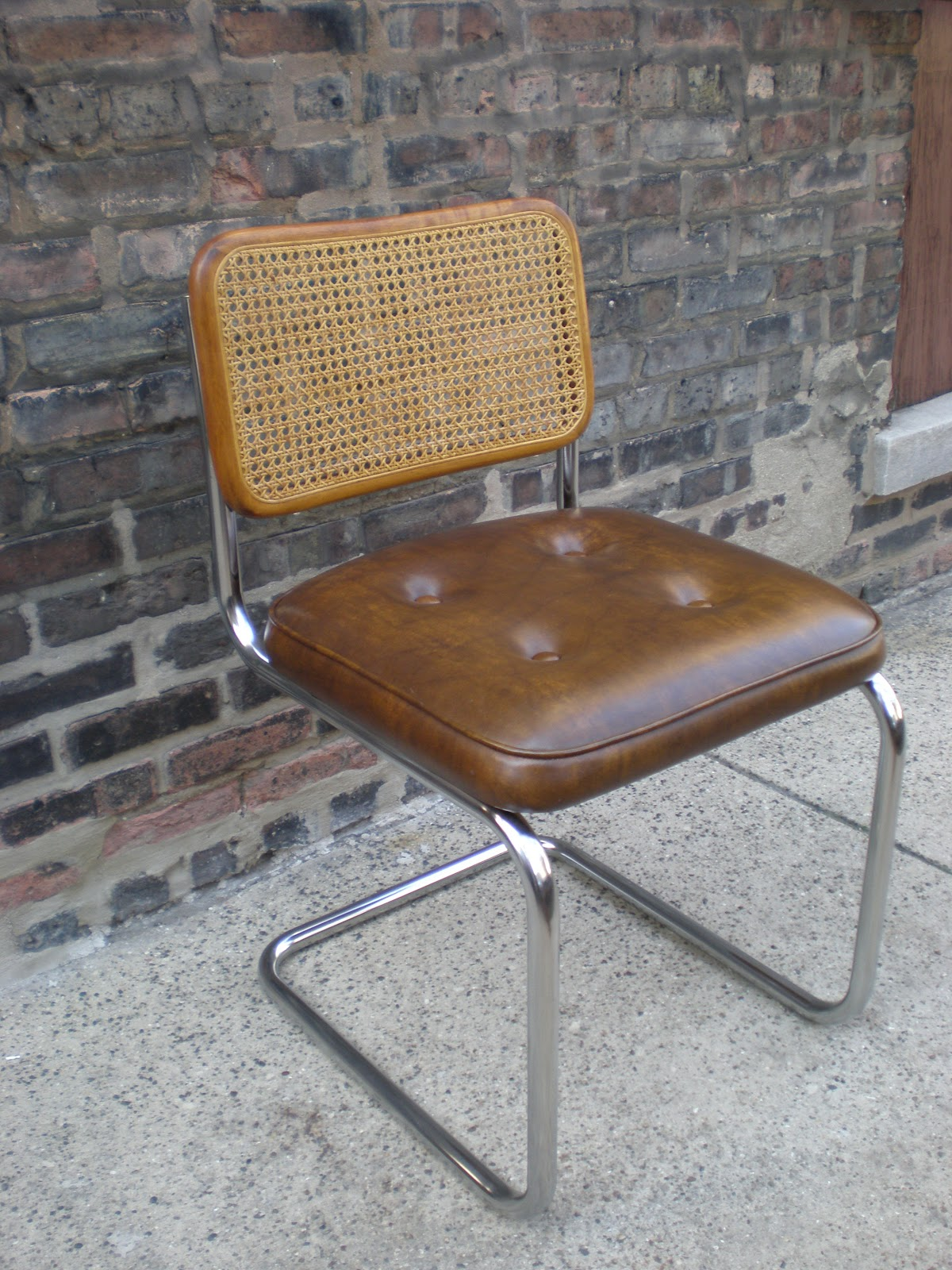 Mid Century Chicago Wood And Chrome Bauhaus Style Chair