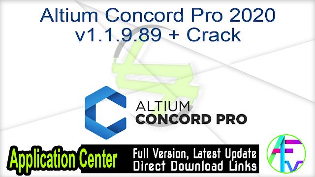Altium Concord Pro 2020 v1.1.9.89 + Crack
