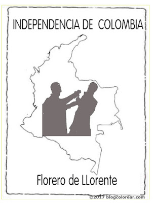 Colorear dibujos de El Florero de Llorente