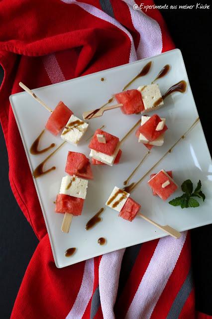 Experimente aus meiner Küche: Wassermelonen-Feta-Spieße