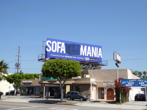 Blue Sofamania billboard