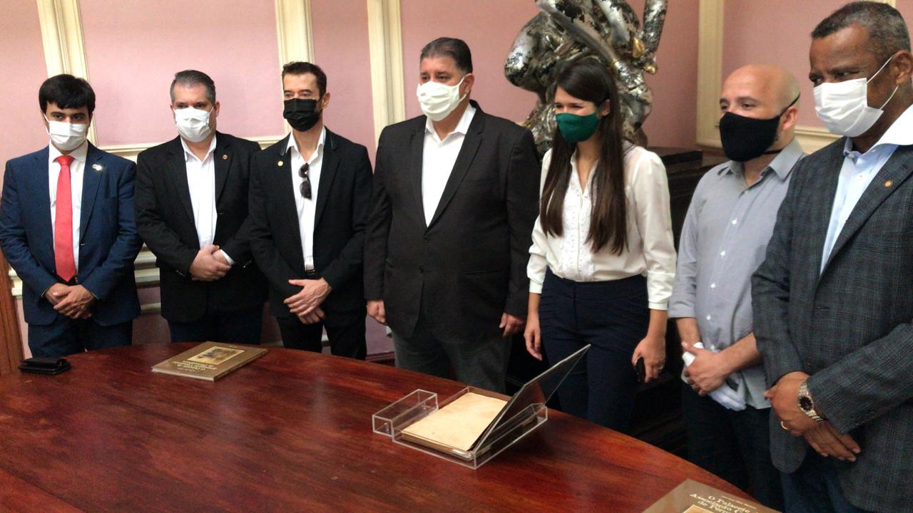 Palácio histórico da ACP recebe visita de secretários da Prefeitura do Recife para novos projetos