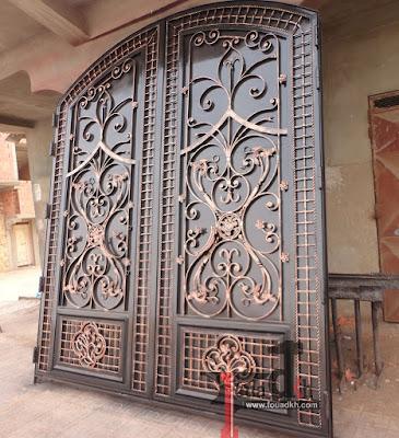 جديد اعمالنا من  fer forgé  المزخرف طريقة صنع باب مرآب garage