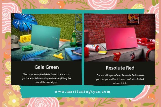 filosofi warna green dan resolute red asus vivobook