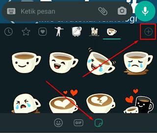Menambah Satu Paket Full Stiker Animasi Bergerak Whatsapp