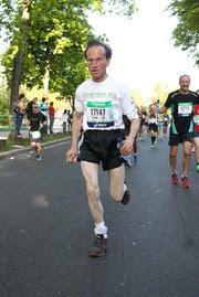 Alain Fonteneau lors du Marathon de Paris, édition 2017.