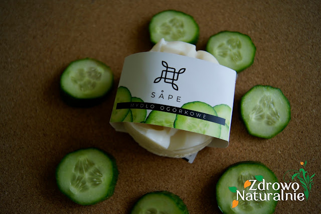 Sape - Mydło ogórkowe z gąbką loofah