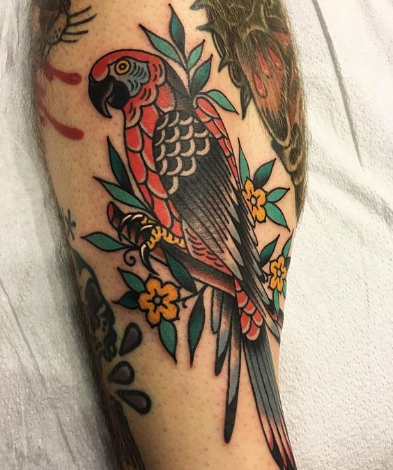 What is the meaning of the parrot tattoo pattern