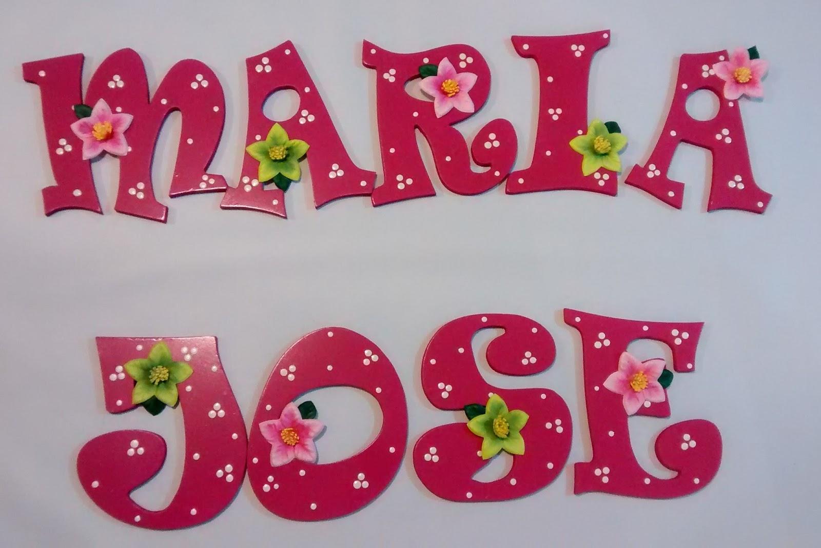 Galeria arte y dise o madekids letras en mdf - Letras de nombres para decorar ...