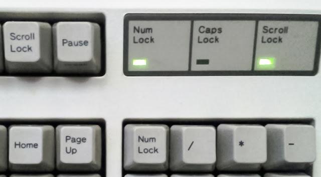 Fungsi Tombol Num Lock, Scroll Lock, dan Caps Lock