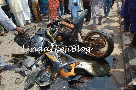 Image result for picture of accident involving a power bike in Nigeria