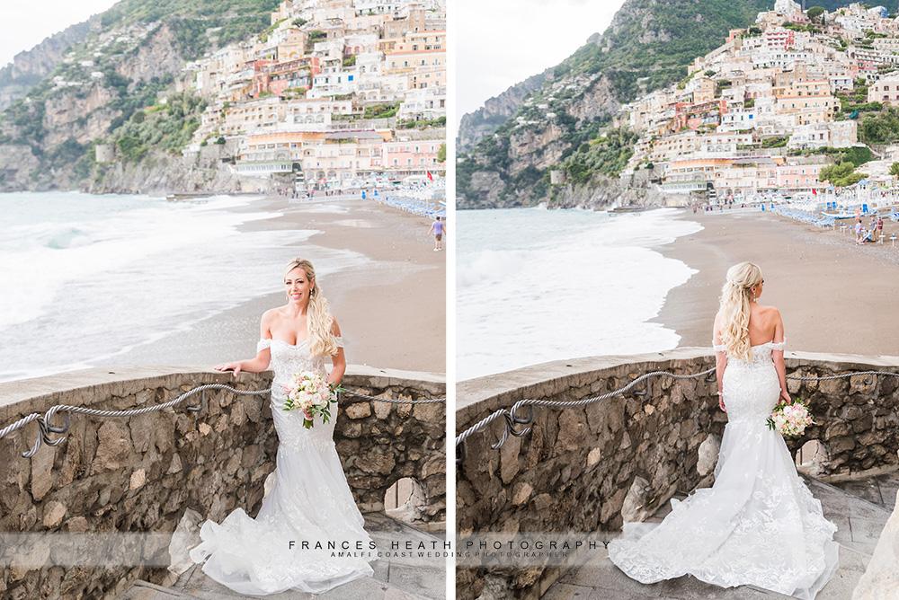 Bride portrait on Positano beach
