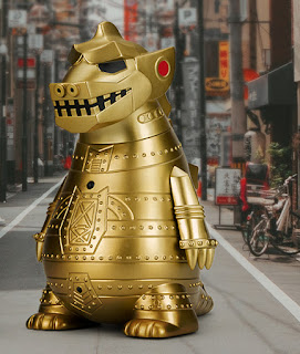 Kidrobot Godzilla 65th Birthday Celebration Capsule Collection 8 inch Medium Vinyl Figure Mechagodzilla Gold