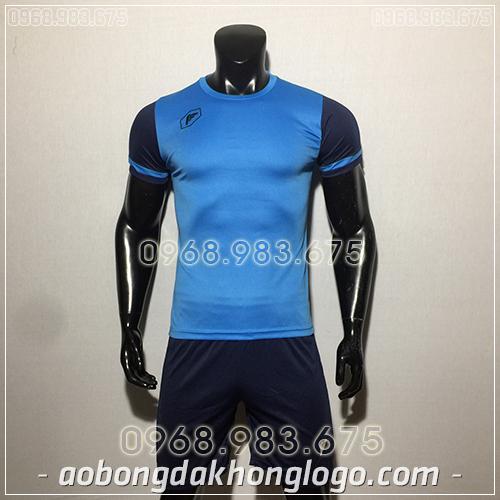 Áo bóng đá ko logo Fagan DG màu xanh ngọc