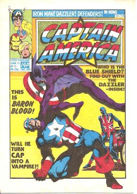 Captain America #17, Baron Blood, Marvel UK