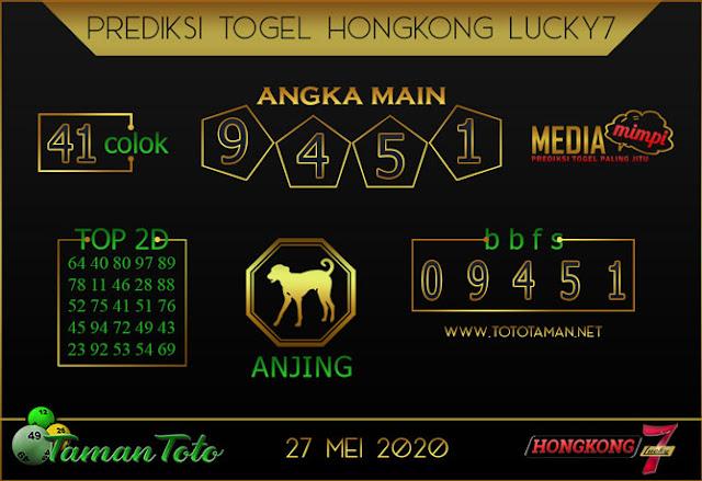 Prediksi Togel HONGKONG LUCKY 7 TAMAN TOTO 27 MEI 2020