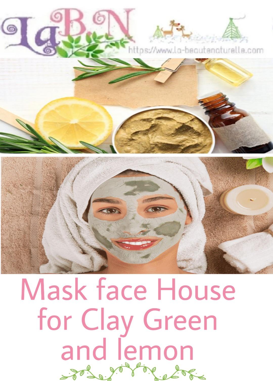 masque argile verte et citron